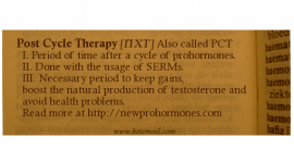 The PCT – Post Cycle Therapy