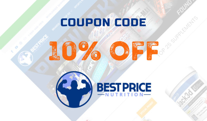 10% OFF on ALL your orders at BestPriceNutrition with this Promo / Coupon Code