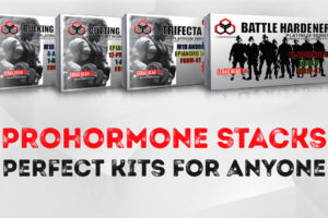 Prohormone Stacks: Bulking, Cutting, Trifecta Andro & Battle Hardener Kit (LG Sciences)