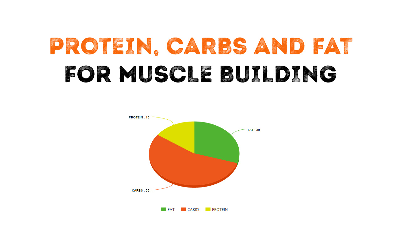 Calculation of protein fat and carbs for muscle building.