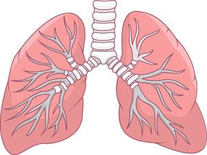 Decreased lung capacity