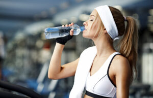 Drink water between workout