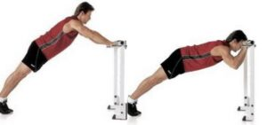 Body triceps press using chair