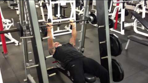 Smith machine exercise for triceps